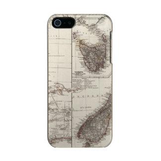 Western Australia Tasmania and New Zealand Metallic iPhone SE/5/5s Case