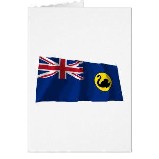 Western Australia Waving Flag Card