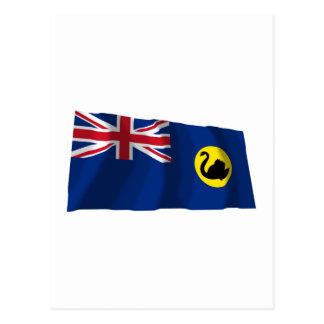 Western Australia Waving Flag Postcard