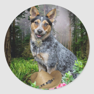 Western Australian Cattle Dog Apparel & Gifts Classic Round Sticker