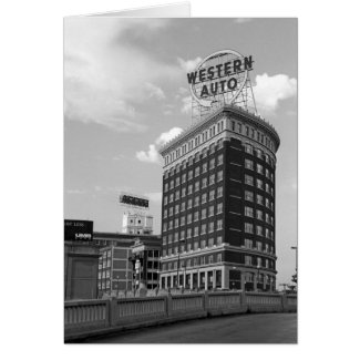 Western Auto Building Architecture Photo Card