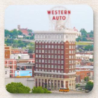 Western Auto Building Loft Condos Kansas City Drink Coaster