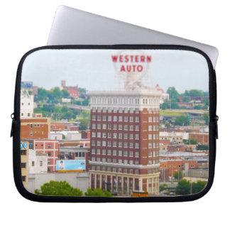 Western Auto Building Loft Condos Kansas City Laptop Sleeve