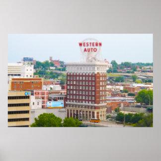 Western Auto Building Loft Condos Kansas City Poster