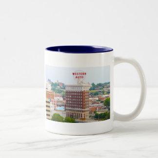 Western Auto Building Loft Condos Kansas City Two-Tone Coffee Mug