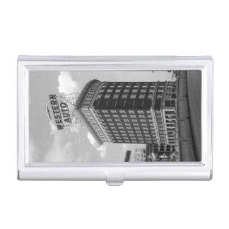 Western Auto Half Cylinder Building Business Card Case