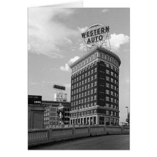 Western Auto Half Cylinder Building Greeting Card