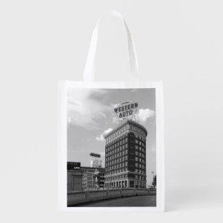 Western Auto Half Cylinder Building Grocery Bags