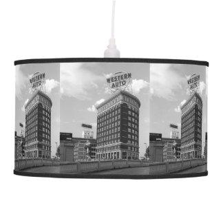 Western Auto Half Cylinder Building Hanging Lamp