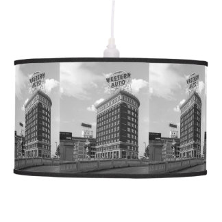 Western Auto Half Cylinder Building Ceiling Lamps