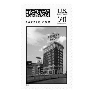 Western Auto Half Cylinder Building – Large stamp