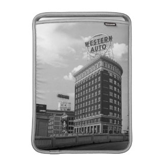 Western Auto Half Cylinder Building MacBook Sleeve