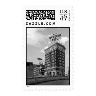 Western Auto Half Cylinder Building – Medium stamp