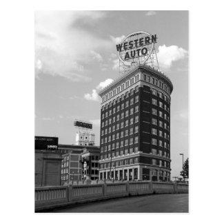 Western Auto Half Cylinder Building Post Card