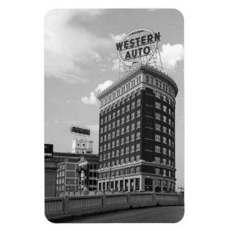 Western Auto Half Cylinder Building Rectangular Photo Magnet