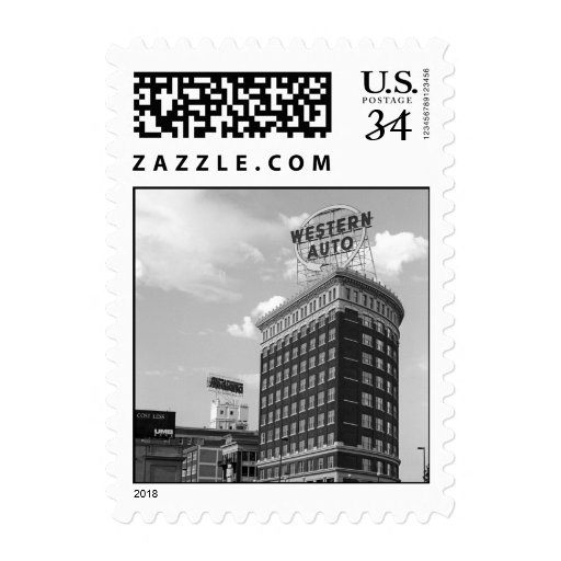 Western Auto Half Cylinder Building – Small stamp