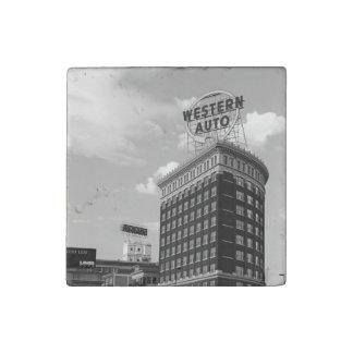 Western Auto Half Cylinder Building Stone Magnet
