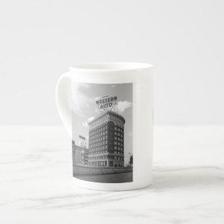Western Auto Half Cylinder Building Tea Cup