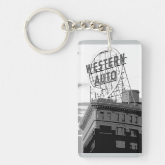 Western Auto Single-Sided Rectangular Acrylic Keychain