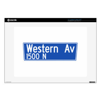 Western Avenue, Los Angeles, CA Street Sign Decal For Laptop