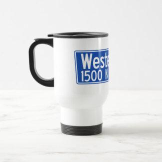 Western Avenue, Los Angeles, CA Street Sign Travel Mug
