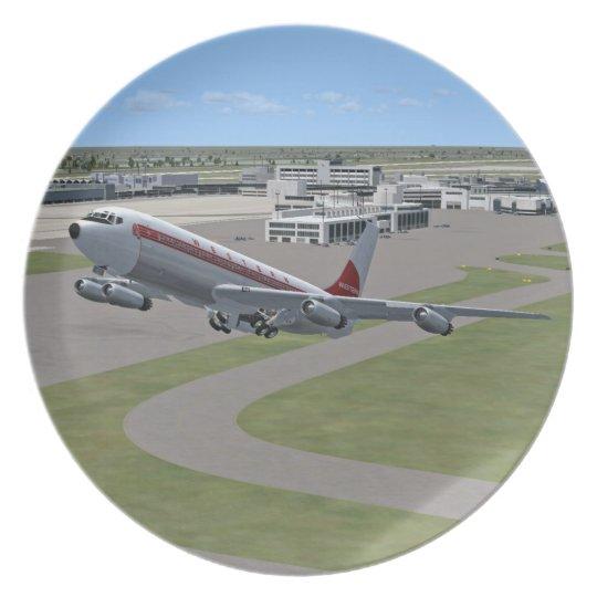 Western B707 Plane Plate