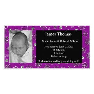 Western Baby Birth Announcement
