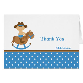 Western Baby Shower Thank You Greeting Cards