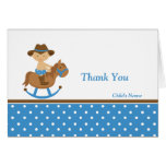 Western Baby Shower Thank You Stationery Note Card