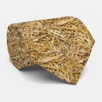 Western Bale Of Hay Print Necktie