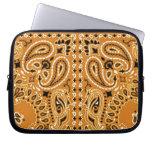 Western Bandana Paisley Scarf Fabric Laptop Sleeve