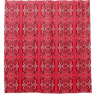 Western Bandana Print Any Color Shower Curtain