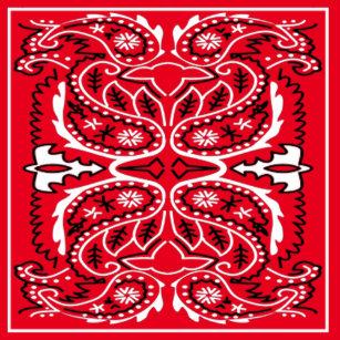 Western Bandana Print Any Color Shower Curtain