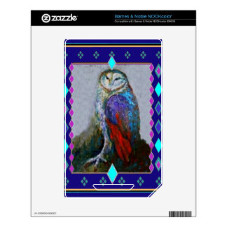 Western Barn Owl Art By Sharles NOOK Color Decals