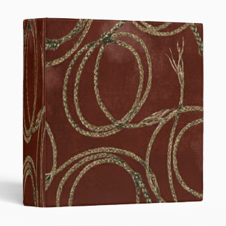Western Barn Red Rustic Rope ~ Binder 1 Touch EZD