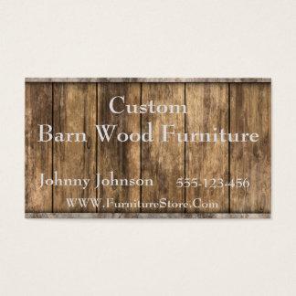 Western Barn Wood Template Business Card