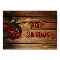 Western Barnwood Christmas Card