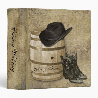 Western Barrel and Boots Wedding Binder
