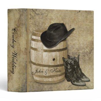 Western Barrel and Boots Wedding Binder