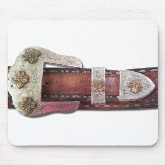 Western Belt Buckle mousepad