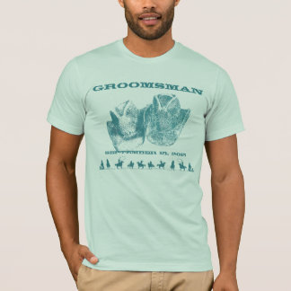 Western Best Man Wedding Party T-Shirts