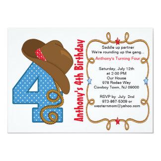 Western Big Four Boy Birthday Invitation