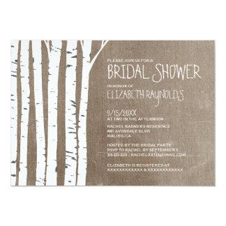Western Birch Tree Bridal Shower Invitations Invite