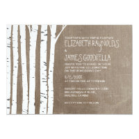 Western Birch Tree Wedding Invitations