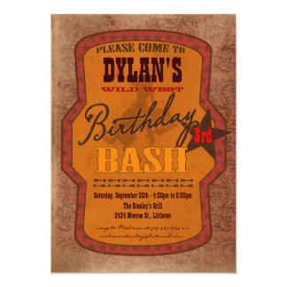 Western Birthday Bash Invitation