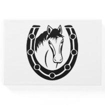Western Black Wedding Horse Equestrian Rustic Guest Book