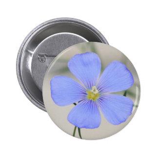 Western Blue Flax Blossom Button