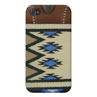 "Western ""Blue Horse Blanket"" IPhone 4 Case"