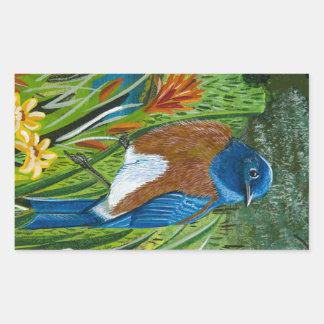 Western Bluebird Rectangular Sticker