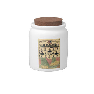 Western Boarder States Military Portraits (1861) Candy Jars